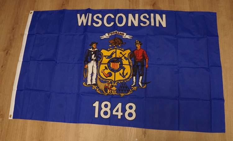 "Amerikaanse Staten vlag  "" Wisconsin """