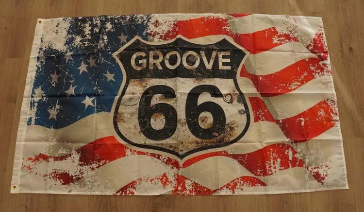 """Amerikaanse vlag ' Groove 66 """""""