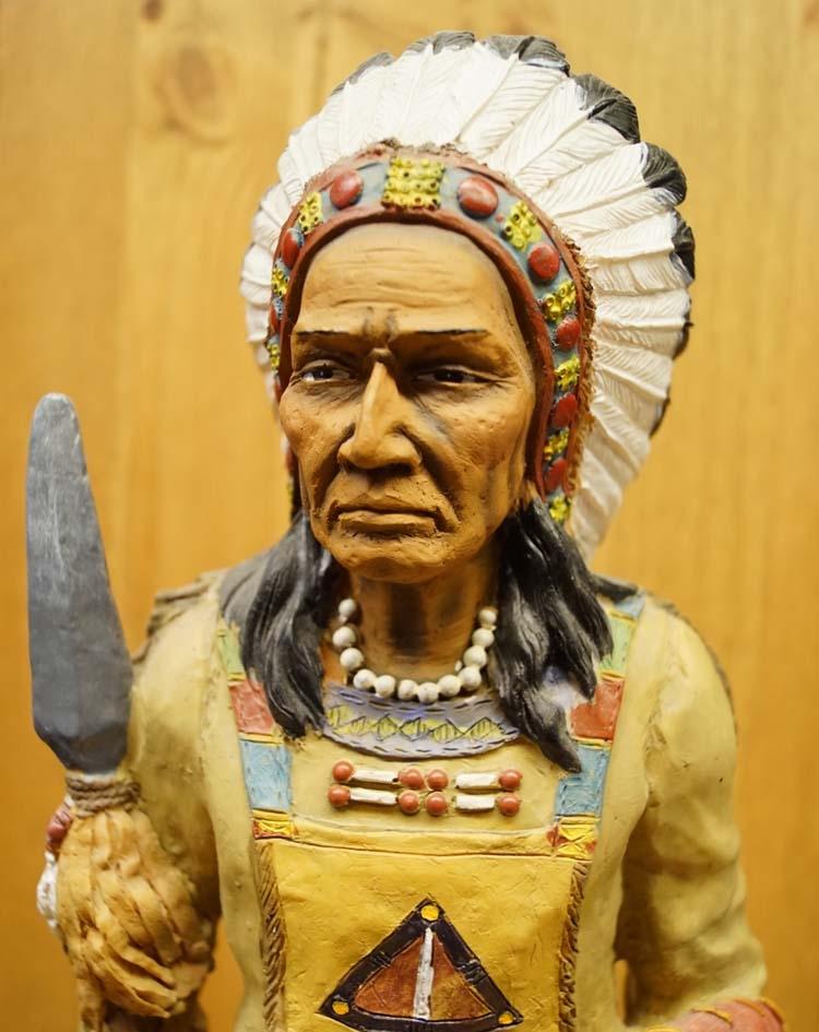 """Beeld  """" Indiaan op oorlogspad """""""