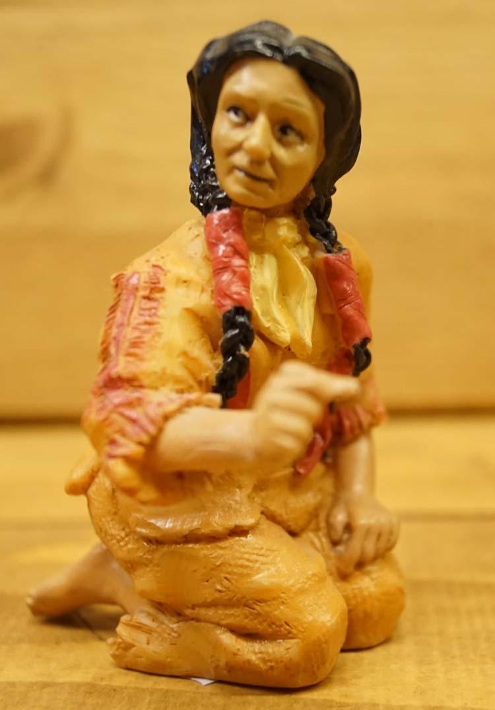 """Beeld  """" Indiaanse op de knieën """""""