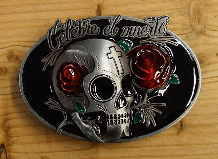 """Belt buckle   """" Celebre el muerto """"  Doodskop"""