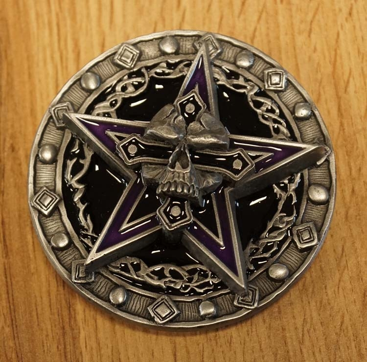 "Belt buckle   "" Doodskop op pentagram """