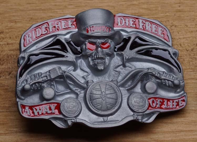 """Belt buckle   """" Rebel free, die Free, away of life """""""