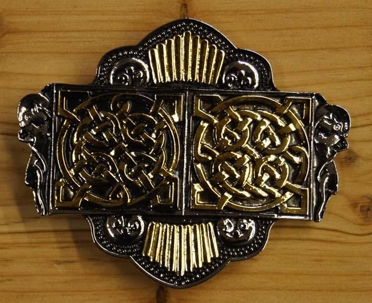 """Belt buckle  """"  Twin celtic knot """""""
