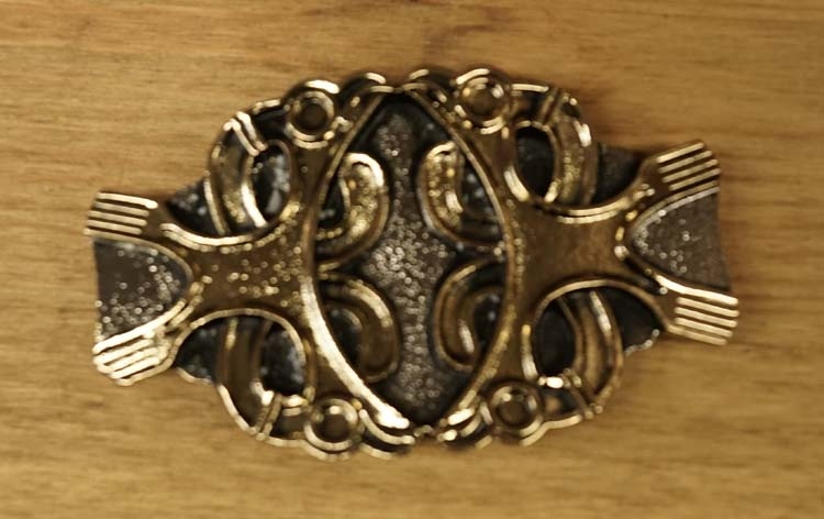 "Belt buckle  ""  Twin celtic knot """
