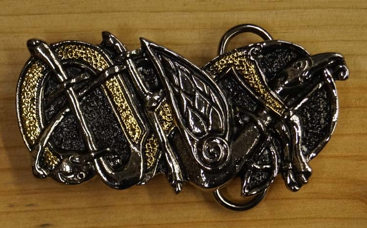 "Belt buckle  ""  Twin snake """