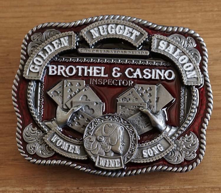 """Belt buckle  """" Brothel & casino inspector """""""