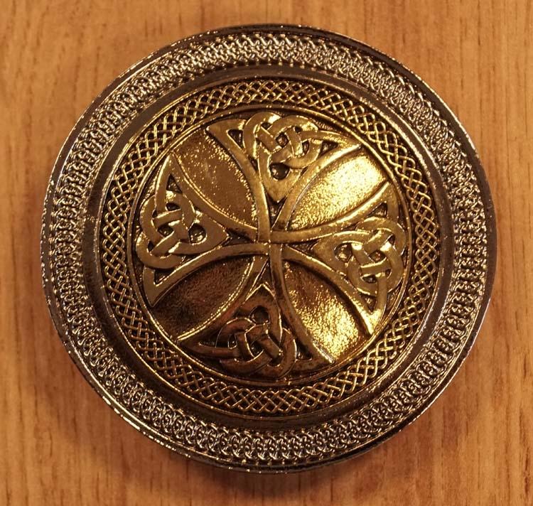 "Belt buckle  "" Celtic cross knot """