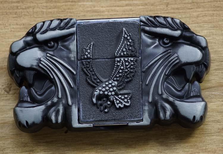 Belt buckle with lighter
