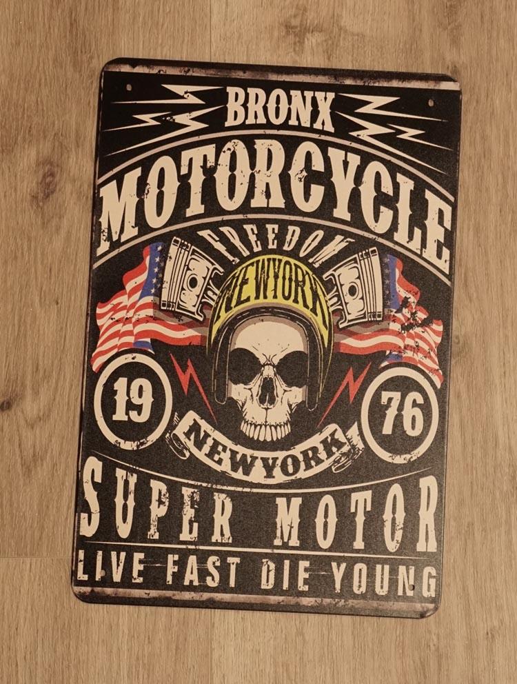 "Billboard "" Bronx motorcycle,1976 New York super motor """