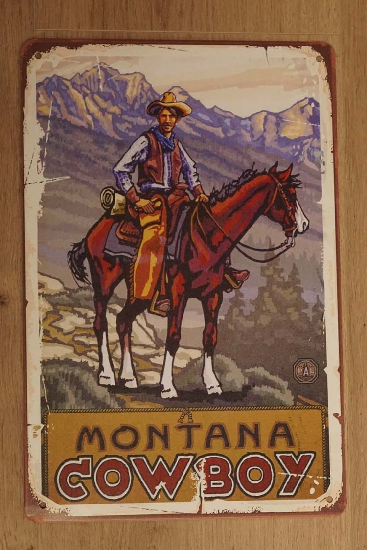 "Billboard "" Cowboy Montana """