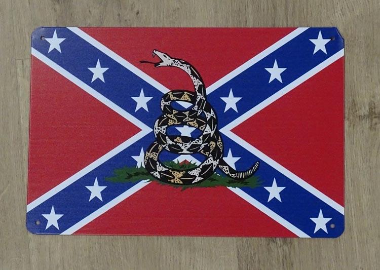 """Billboard """" CSA vlag met ratelslang """""""