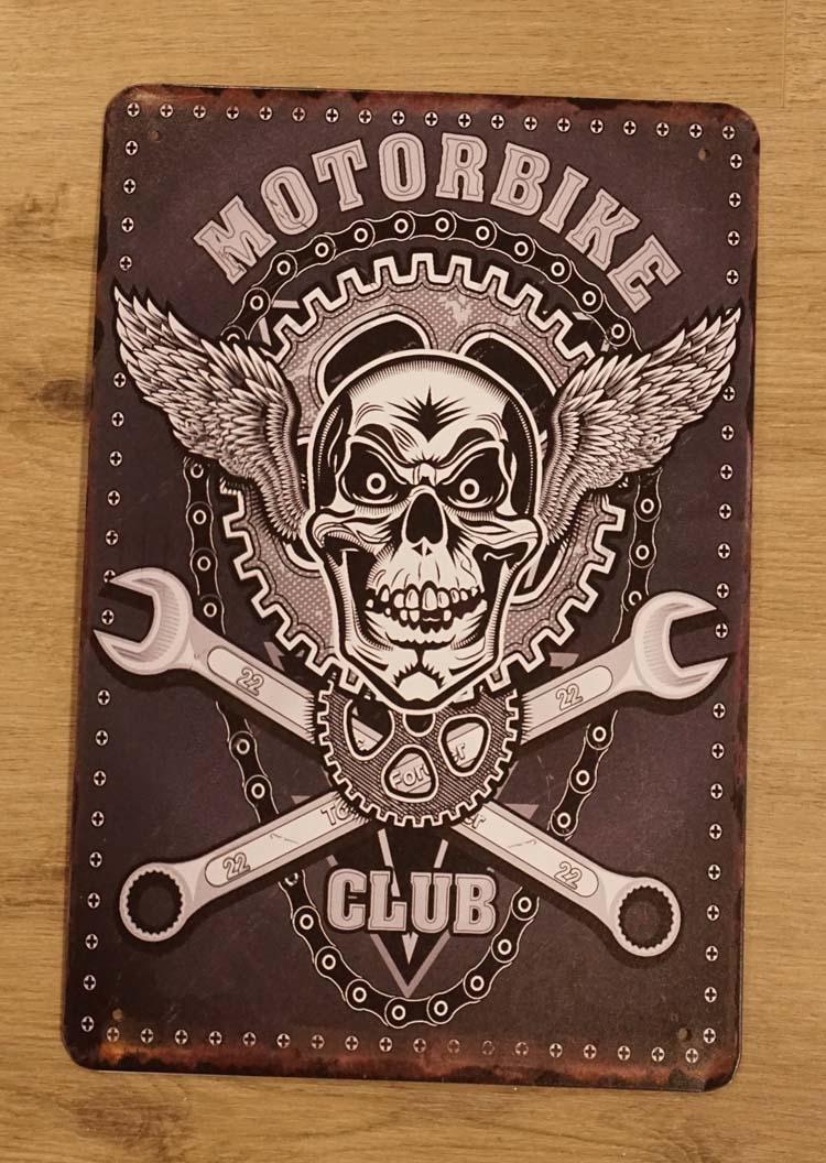 """Billboard """" Motorbike club """""""