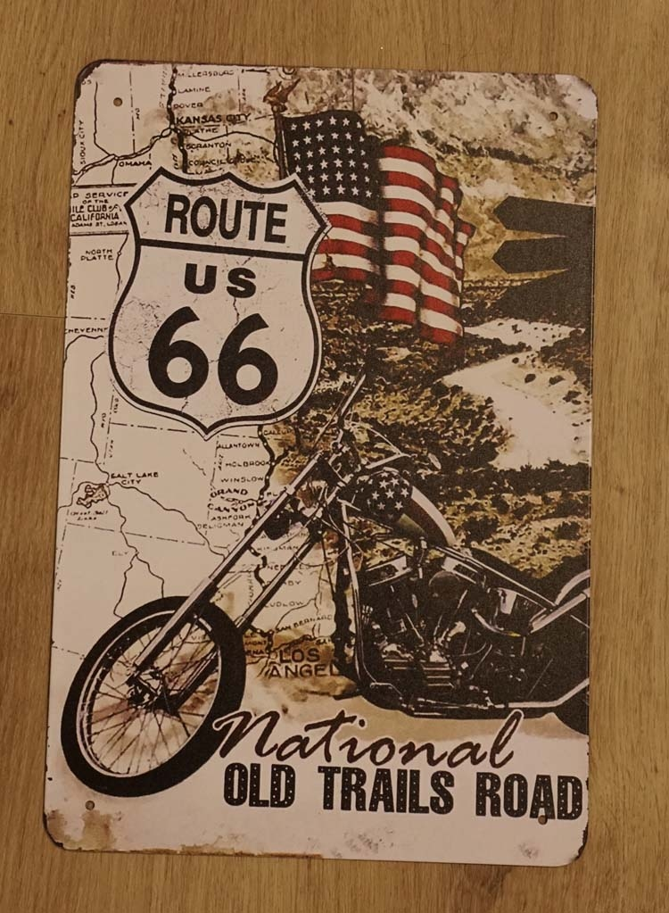 """Billboard """" Route us 66 national old trails road """""""