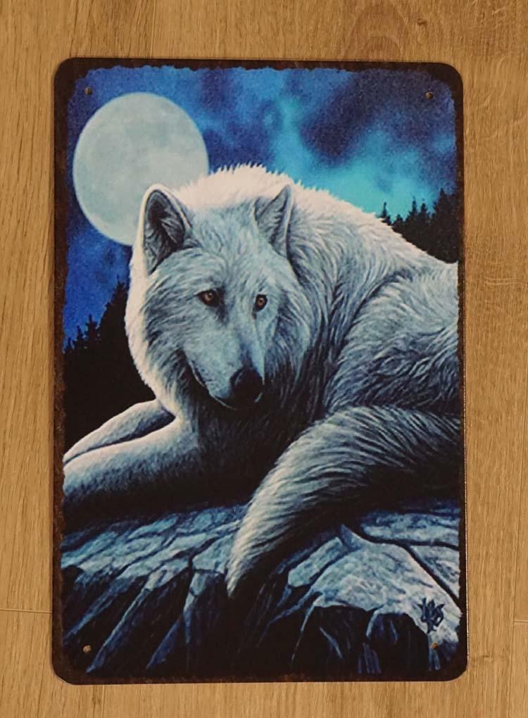"""Billboard """" Wolf bij volle maan """""""