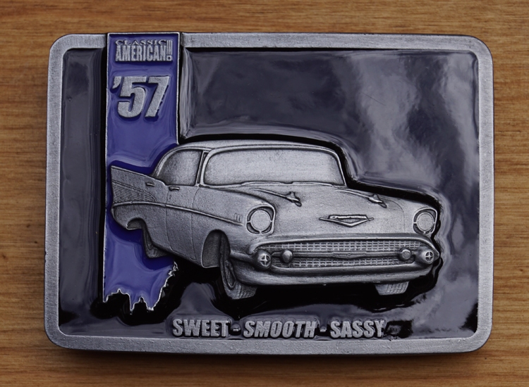 """Buckle  """"  'American 57, sweet, smooth, sassy """""""