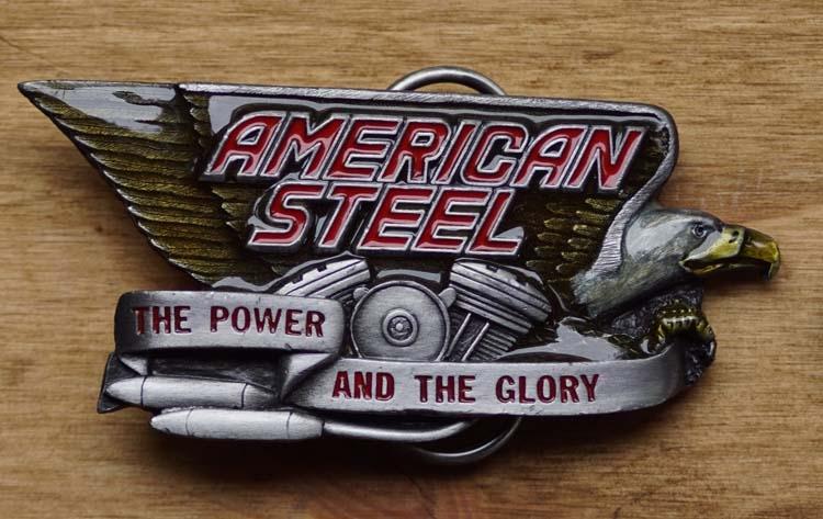 "Buckle  "" American steel  ""  The power and   UITVERKOCHT"