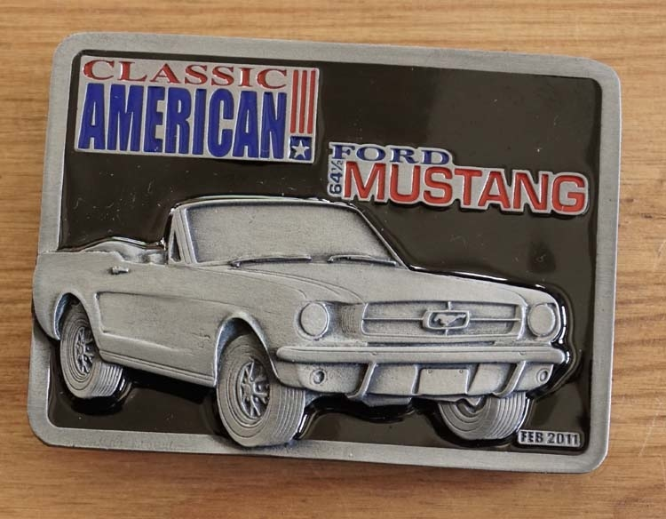 """Buckle  """" Classic American 64 Ford Mustang """""""