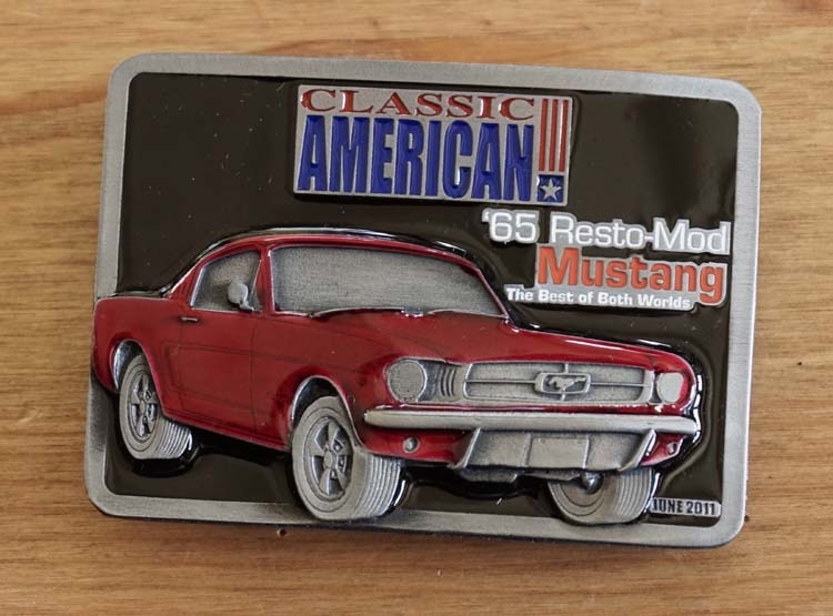 "Buckle  "" Classic American 65 Resto-mod Mustang """