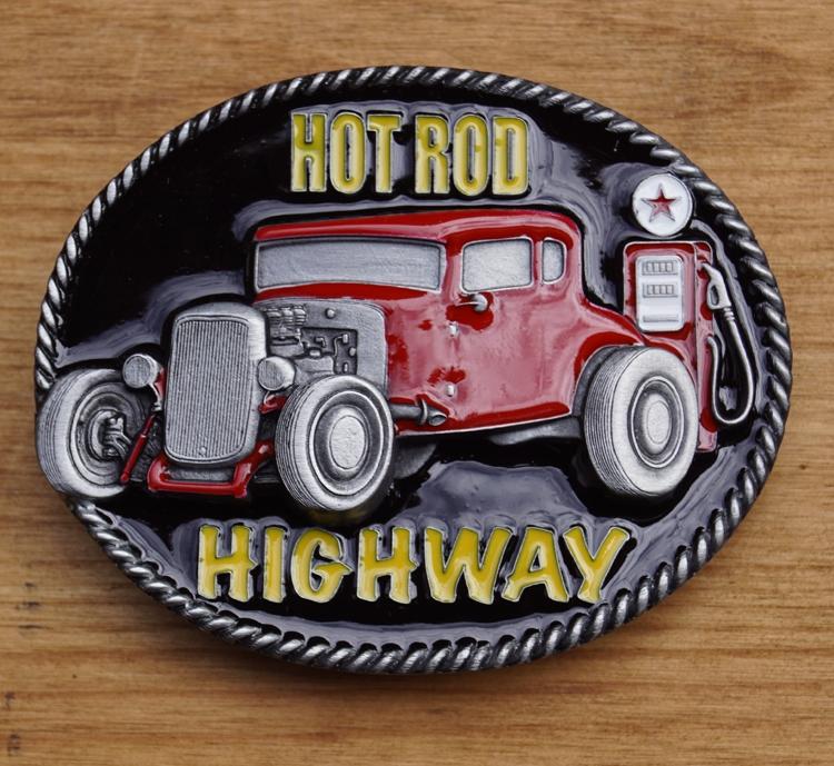 """Buckle  """" Hot rod, highway """"  UITVERKOCHT"""