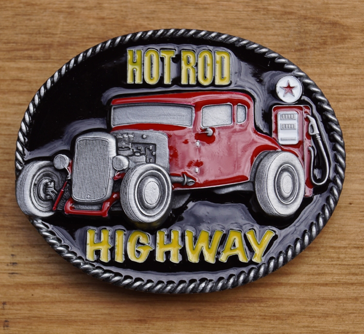 "Buckle  "" Hot rod, highway """