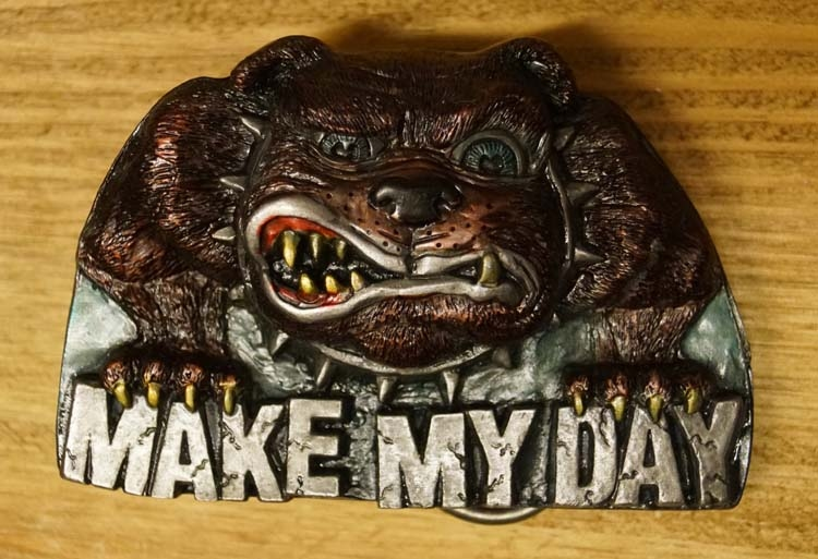 "Buckle  "" Make my day ""  UITVERKOCHT"