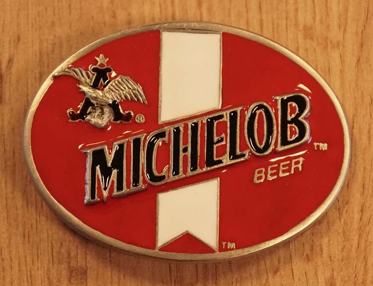 """Buckle  """" Michelob beer """" rood / wit"""