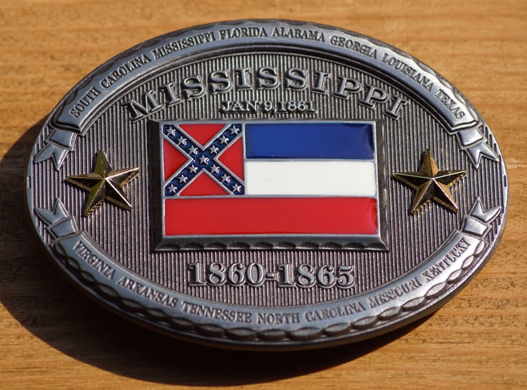 """Buckle  """" Mississippi  1860 - 1865 """""""