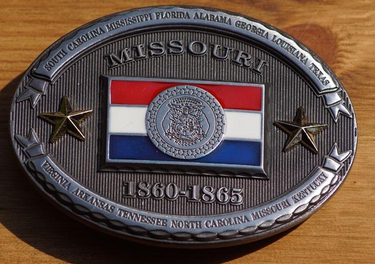 "Buckle  "" Missouri  1860 - 1865 """