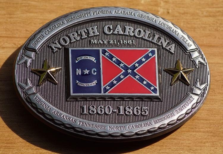 "Buckle  "" North Carolina  1860 - 1865 """