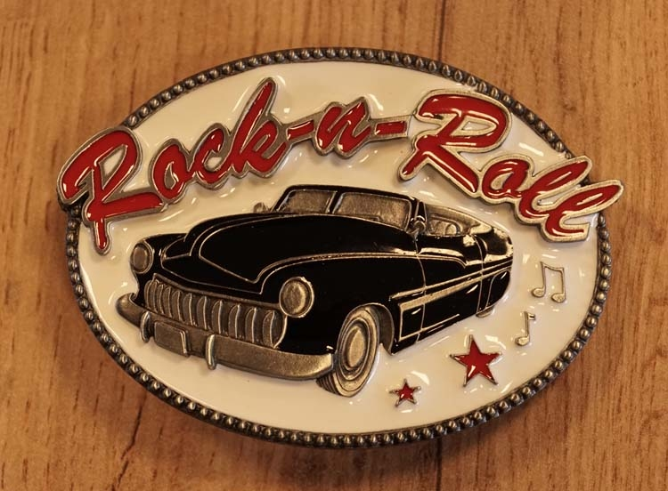"Buckle  "" Rock and Roll ""  zwarte auto"