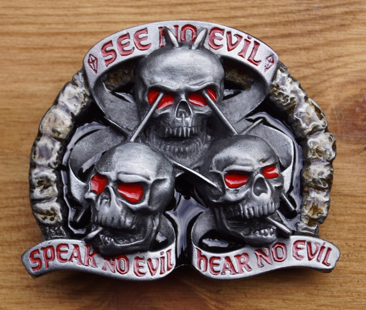 "Buckle  "" See no evil, speak no evil, hear no evil """