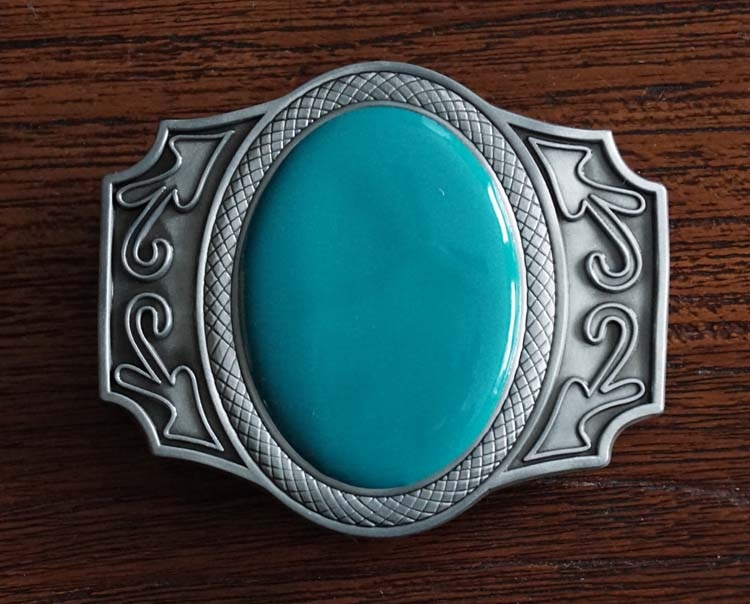 """Buckle  """" Sierwerk met grote turquoise steen """""""