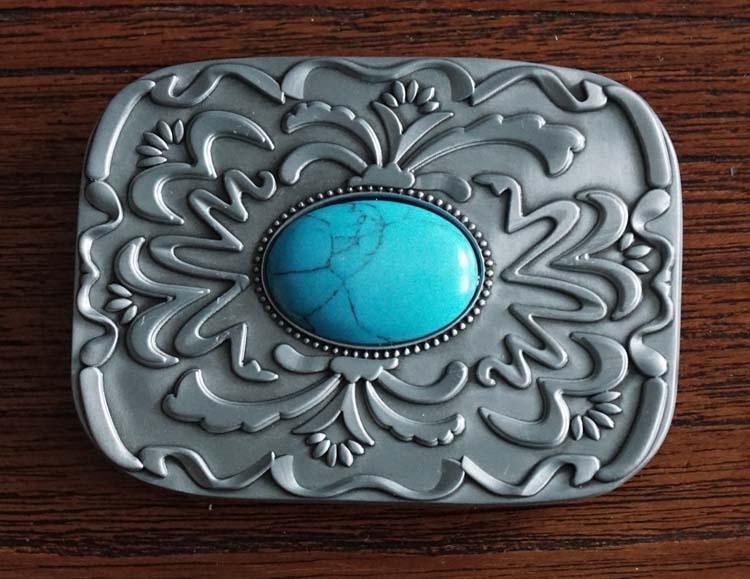 """Buckle  """" Sierwerk met turquoise steen """""""