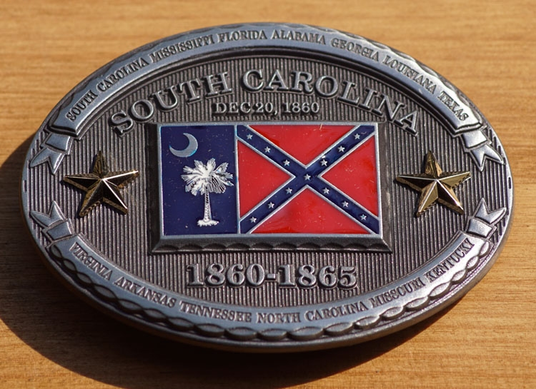 "Buckle  "" South Carolina  1860 - 1865 """
