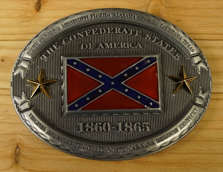 """Buckle  """" The confederate state of America """"  1860 - 1865"""