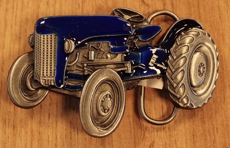 """Buckle  """" Tractor  """"   blauw / nikkelkleurig"""