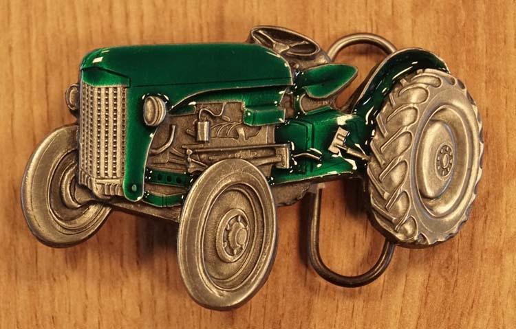 """Buckle  """" Tractor  """"   groen / nikkelkleurig"""