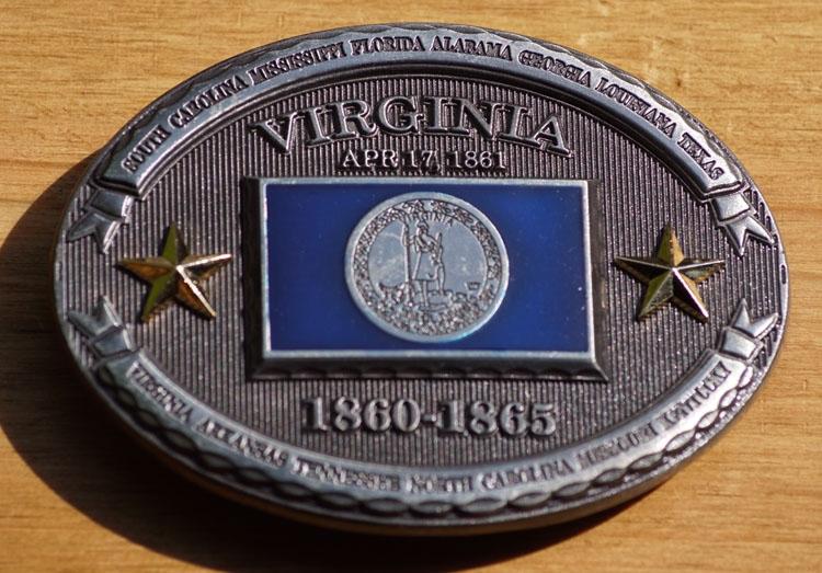 "Buckle  "" Virginia  1860 - 1865 """