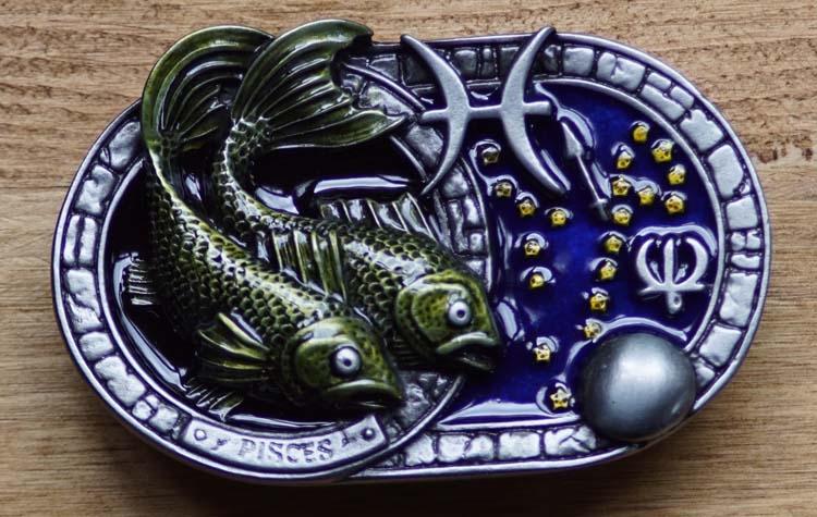 """Buckle  """" Vissen """"  Sterrenbeeld"""