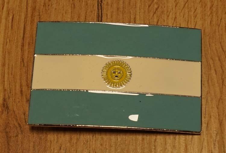 """Buckle / gesp  """" Argentijnse vlag """""""