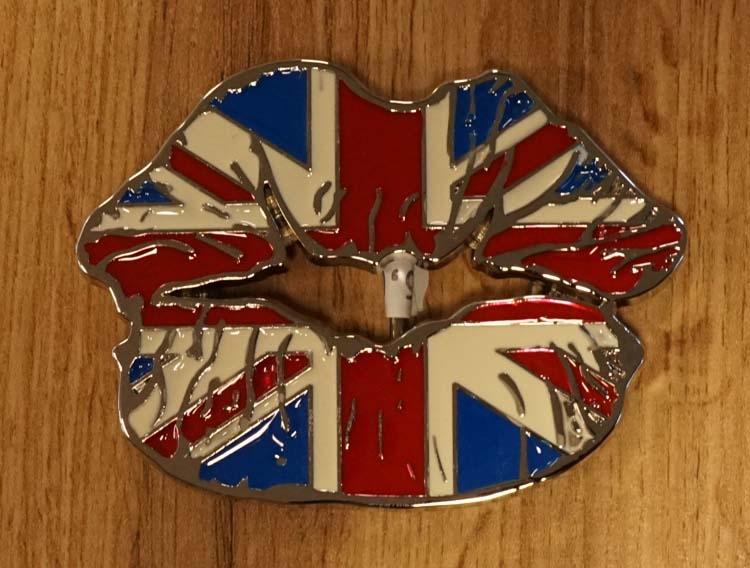 """Buckle / gesp  """" Britische vlag mond """""""