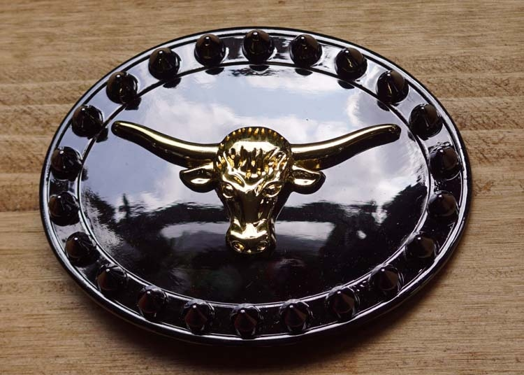 """Buckle / gesp  """" Buffalo schedel """""""