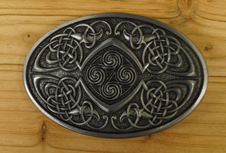 "Buckle / gesp  "" Celtic knot bird """
