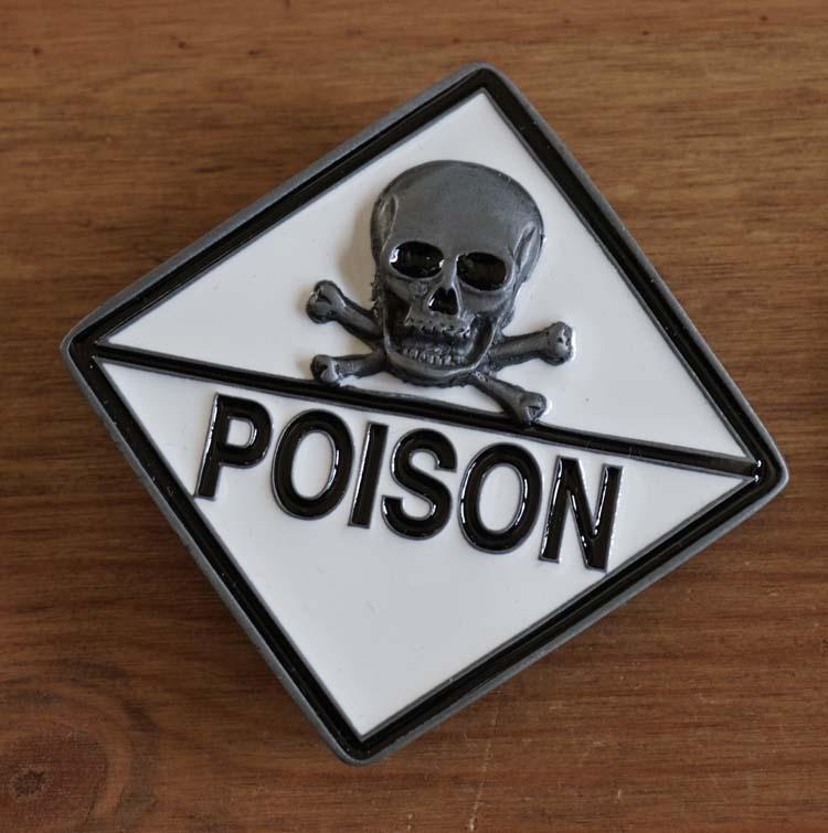 "Buckle / gesp  "" Doodskop Poison """