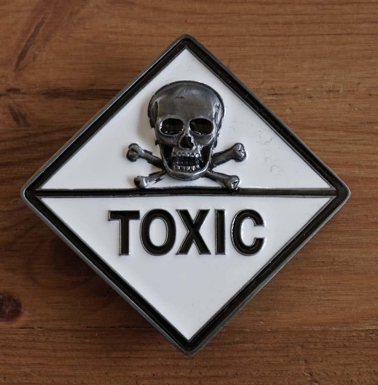 """Buckle / gesp  """" Doodskop Toxic """""""