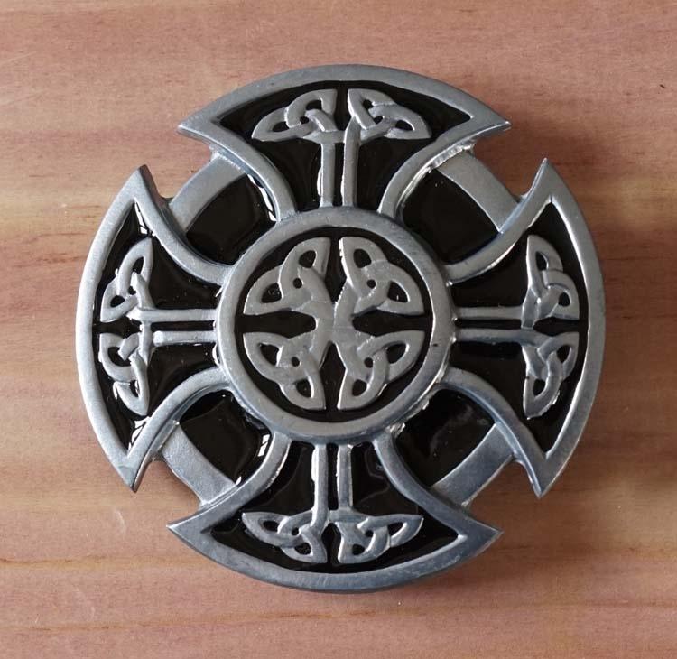 """Buckle / gesp  """" Maltezer kruis met keltische knopen """""""