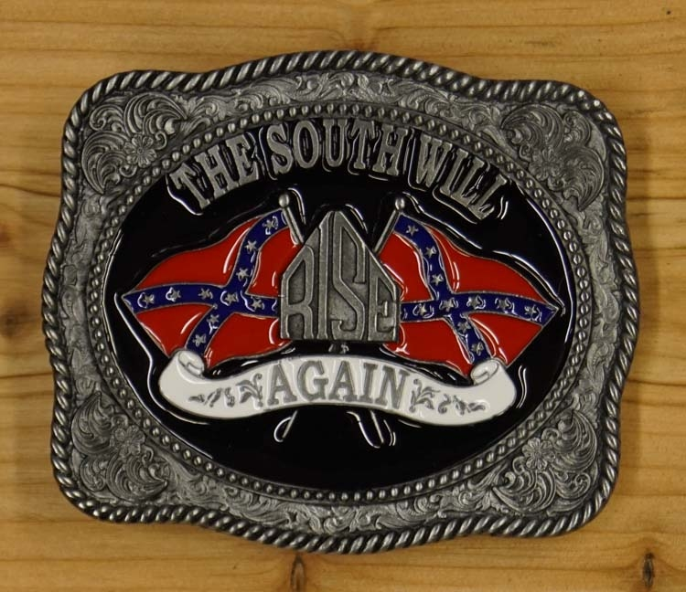 """Buckle / gesp  """" The south will rise again """"   UITVERKOCHT"""