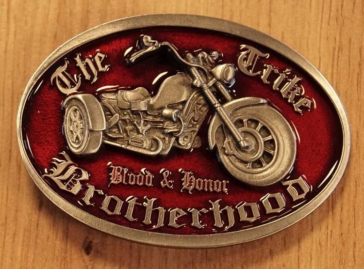 """Buckle / gesp  """" The trike Brotherhood """""""