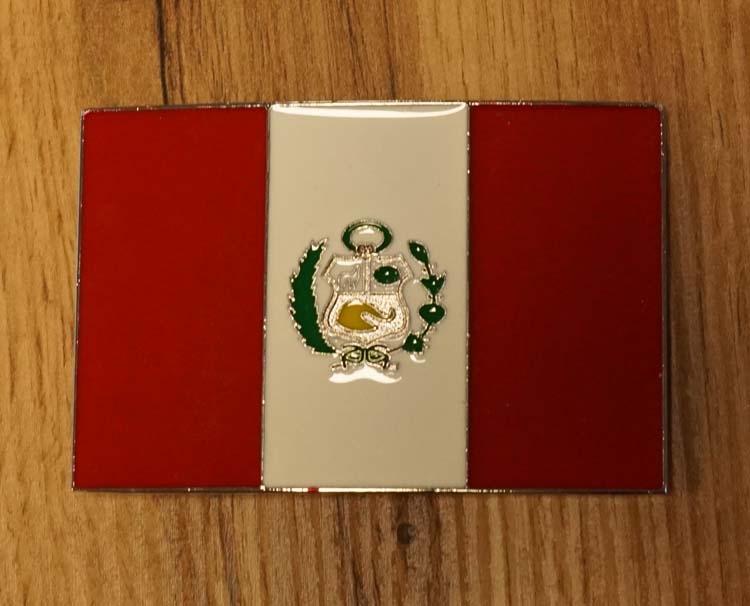 """Buckle / gesp  """" Vlag van Peru """""""